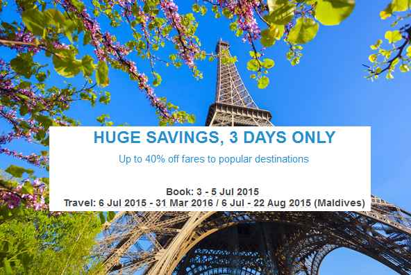 Mas Airlines 3 Days Huge Savings