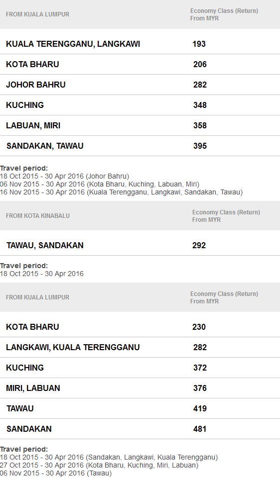 Mas Airlines Early Birds Deals Promo