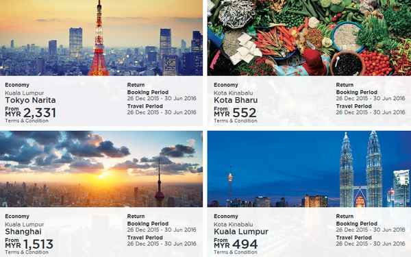 Malaysia Airlines December Deals 2015