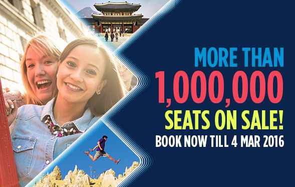 Mas Airlines 1 Million Seats On Sale