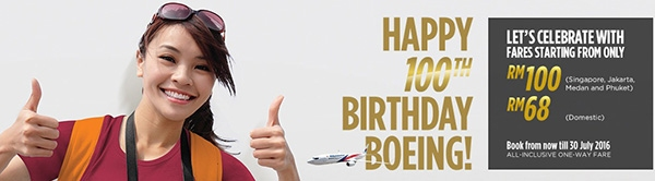 Mas Airlines Boeing 100th Birthday