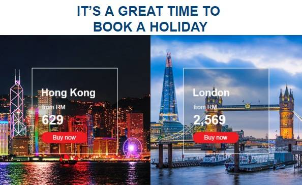 Malaysia Airlines September International Deals