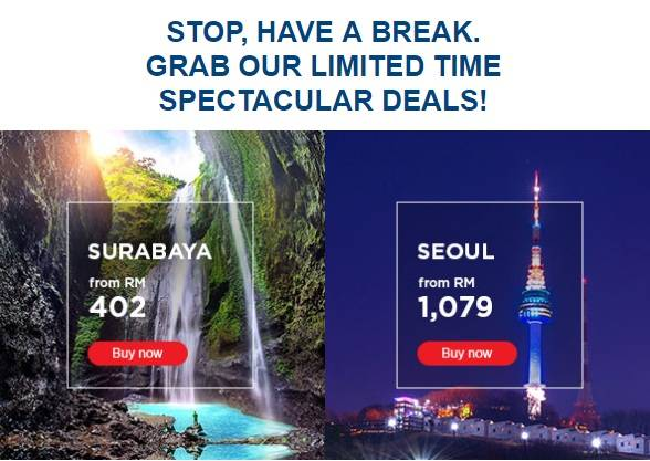Mas Airlines Limited Time Deals