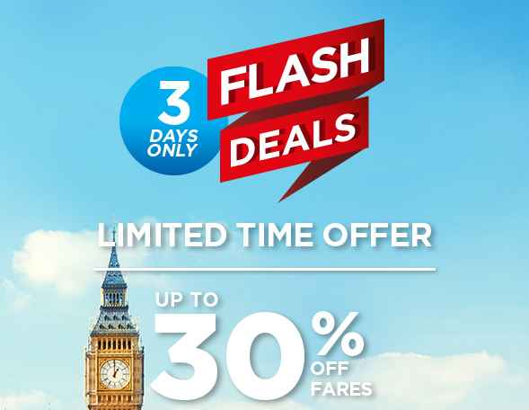 Mas Airlines 30 Off 3 Days Flash Deals