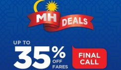 Malaysia Airlines 35 Percent Off Fares Promotion