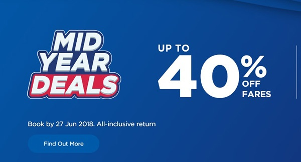 Mas Airlines Mid Year Deals 2018