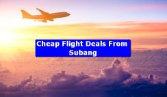 Cheap Flight Deals From Subang